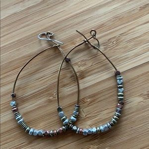 Hammered metal hoops- Calpyso
